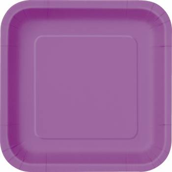 14 Assiettes carrée violette claire
