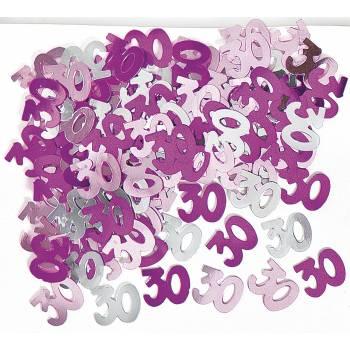 Confettis metallic 30 ans Pink