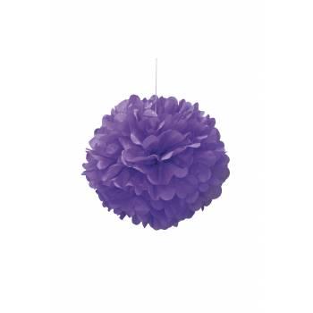 décors à suspendre froufrou papier fluo violette