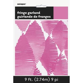 Guirlande frange fuchsia
