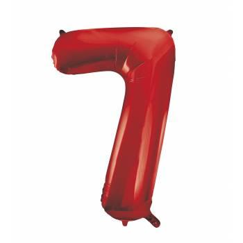 Ballon géant chiffre 7 rouge