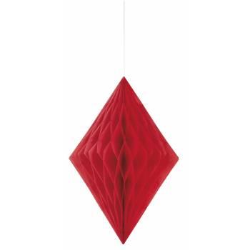 décors à suspendre diamant rouge