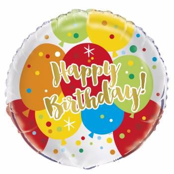 Ballon aluminium thème confettis