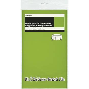 Nappe en plastique ronde fluo verte