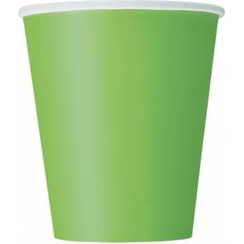 Gobelets carton vert lime