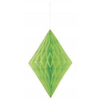 décors à suspendre diamant vert lime