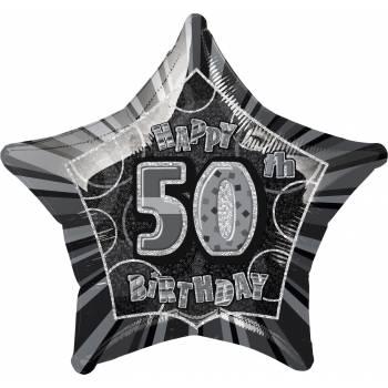 Ballon star noir 50 ans