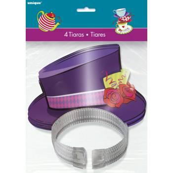4 Tiares chapeau Tea party crazy
