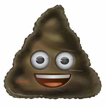 Ballon aluminium Emoji caca XL