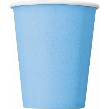 Gobelets carton bleu ciel