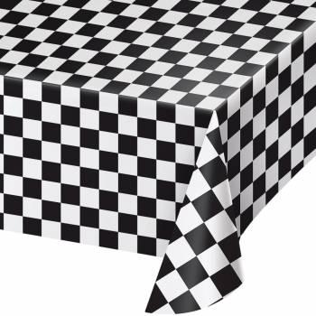 Nappe rectangulaire Noir & Blanc Racing Party