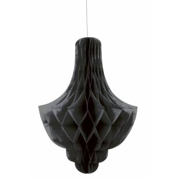 décors à suspendre chandelier papier noire