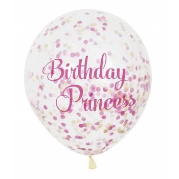 6 Ballon confettis princesses