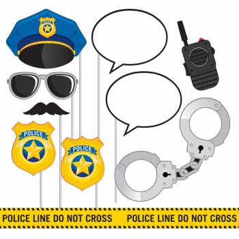 10 accessoires photobooth police