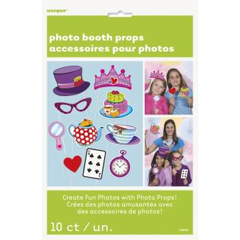 10 Accessoires photobooth Tea party crazy
