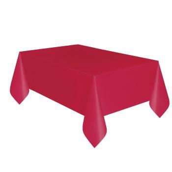 Nappe jetable plastique rouge