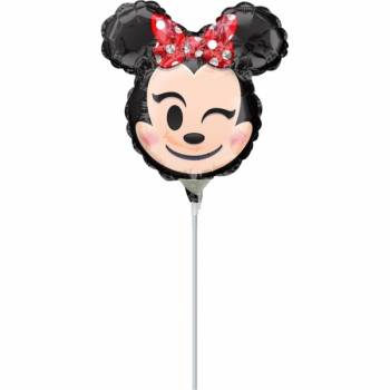 Mini Ballon Minnie emoticon gonflé