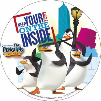 Photo comestible Pingouin de Madagascar 1