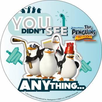 Photo comestible Pingouin de Madagascar 4