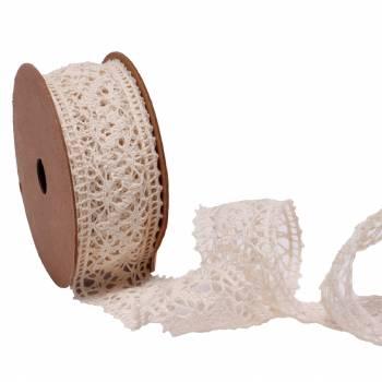 Bobine ruban crochet écru 36mm