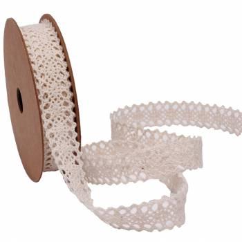 Bobine ruban crochet écru 14mm