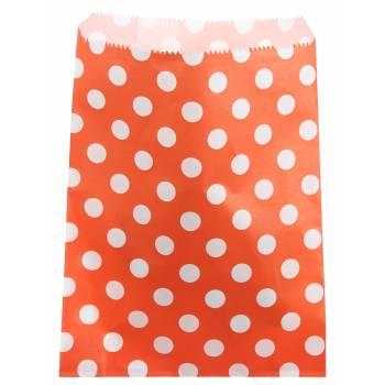 24 Pochettes papier pois orange