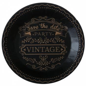10 Assiettes cartons kraft vintage