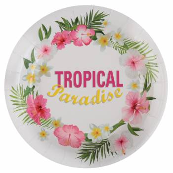 10 Assiettes Tropical Paradise