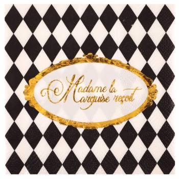 20 Serviettes à dessert Versailles