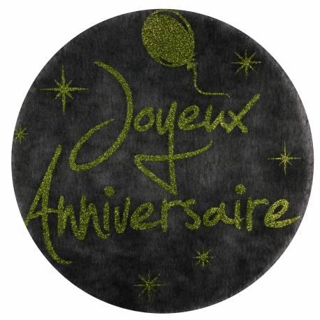 Sets de table joyeux anniversaire paillet vert - Set de table paillete ...