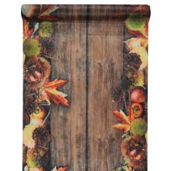Chemin de table automne non tissé