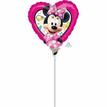 Mini Ballon Coeur Minnie gonflé