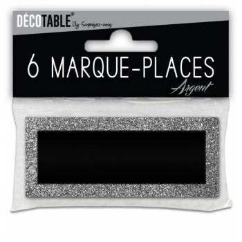 6 Marques place pailleté Argent