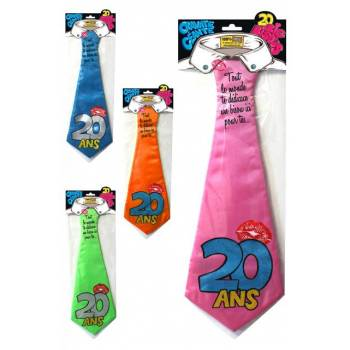 Cravate géante Joyeux anniversaire 20 ans