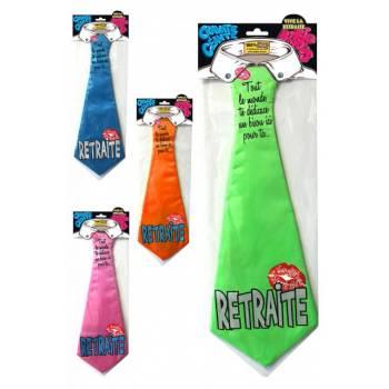 Cravate géante Vive la retraite