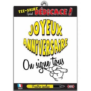 Tee Shirt dédicaces Joyeux anniversaire
