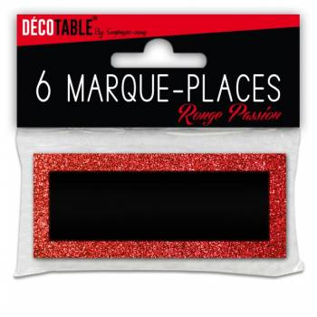 6 Marques place pailleté Rouge