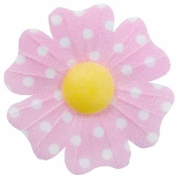 10 Fleurs azyme pois rose