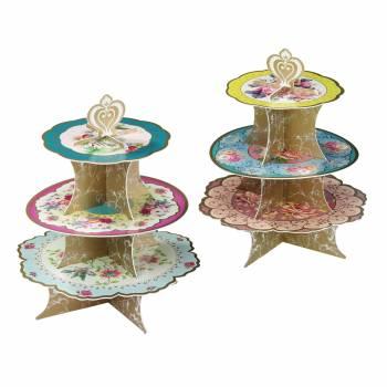 Présentoir à cupcakes vintage floral