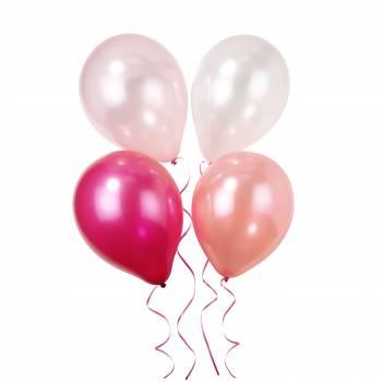 10 Ballons Pink N Mix