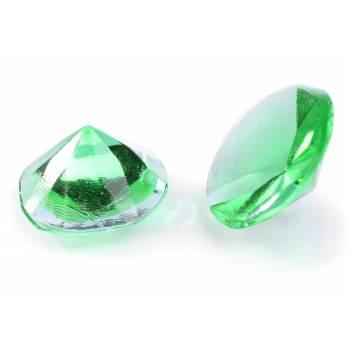 20 Diamant en sucre gélifiés vert