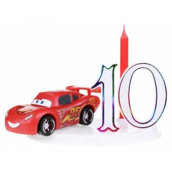 Bougie Cars Flash McQueen avec assortiment de Chiffres