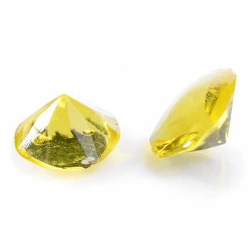 20 Diamant en sucre gélifiés jaune