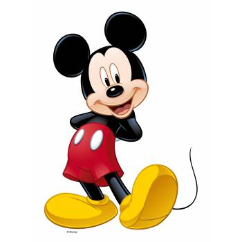 Personnage Mickey Mouse comestible