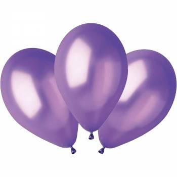 100 Ballons métallisés violet Ø30cm