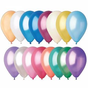 50 Ballons métallisés assortis Ø30cm