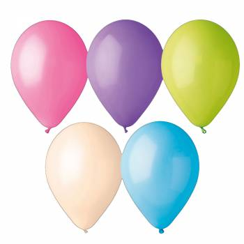 50 Ballons pastel multi Ø30cm