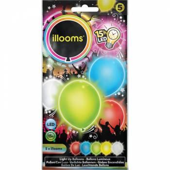 5 Ballons lumineux multicolore