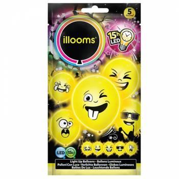 5 Ballons Emoji LED
