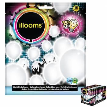 15 Ballons lumineux blanc